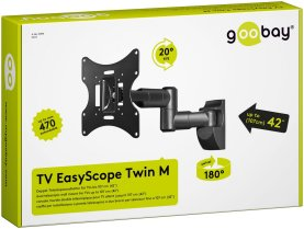 Uchwyt TV EasyScope Twin M Goobay 17''-42''